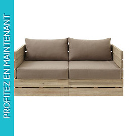 Sofa 2 places palette Cavallo