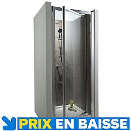 Porte de douche pivotante chromé Tara 70 cm