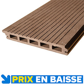 Lame de terrasse composite naoh marron x 15 5 cm castorama Lames de terrasse en composite