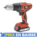 Perceuse sans fil à percussion EGBHP188BK 18V - 1.5Ah BLACK&DECKER
