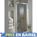 Porte de douche pivotante chromé Tara 80 cm