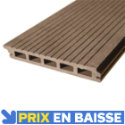 Lame de terrasse composite Naoh marron 290 x 16 cm