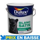 Peinture Dulux Valentine murs et plafonds 4 L Blanc satin