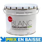 Peinture Colours murs et plafonds 10 L Blanc satin