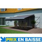 Store de terrasse semi-coffre motorisé Cendre 4 x 3 m
