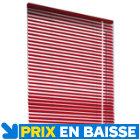 Store vénitien aluminium Rouge H.150 cm