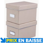 2 boites de rangement Manhattan range CD kraft