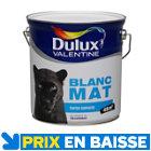 Peinture Dulux Valentine murs et plafonds 4 L Blanc mat