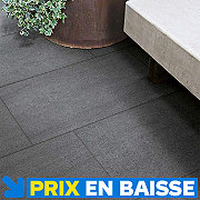 Carrelage terrasse noir 30 x 60 cm Oikos