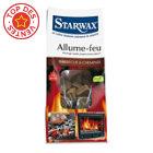 Lot de 72 carrés allume-feu barbecue&cheminée STARWAX