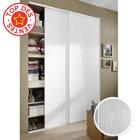Pack 2 portes de placard blanc veiné 250 x 150 cm