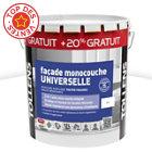 Peinture façade murs sains ou abimés 10L + 20% blanc