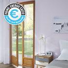 Porte fenêtre en bois 2v 120 x h.215 cm, tirant droit