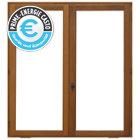 Fenêtre en bois 2v 120 x h.135 cm, tirant droit