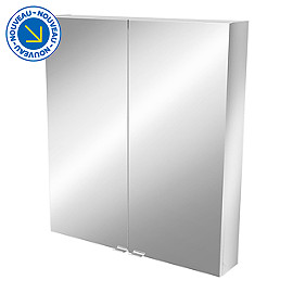 Armoire salle de bains miroir 80 x 90 x 15 cm imandra for Armoire miroir 90 cm