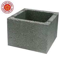 El ment de pilier 28 x 28 cm gris castorama - Element de pilier 40x40 ...