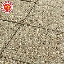 dalle gravillons fond gris 40 x 40 cm - castorama - Poser Des Dalles De Terrasse Sur Dalle Beton