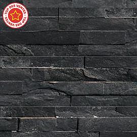 Plaquette de parement slim z noir castorama - Pierre de parement noir ...