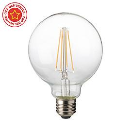 ampoule filament led sph rique e27 8w 75w blanc chaud. Black Bedroom Furniture Sets. Home Design Ideas